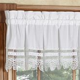 Annie Tailored Valance White 70 x 12
