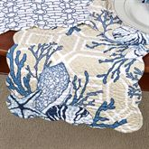 Indigo Sound Table Runner Blue/Tan 14 x 51