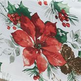 Christmas Watercolor Round Tablecloth Ivory 70 Diameter