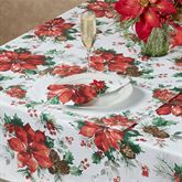 Christmas Watercolor Placemats Ivory Set of Four