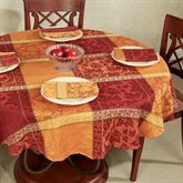 Montvale Round Tablecloth Multi Warm 70 Diameter