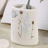 Indigo Wildflowers Toothbrush Holder White