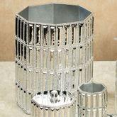 Glitz Silver Wastebasket