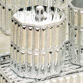 Glitz Silver Cotton Jar