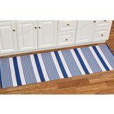 Summer Stripe Woven Rug Runner Blue 2 x 6
