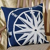 Compass Pillow Navy 20 Square