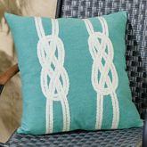 Double Knot Pillow Aqua 20 Square