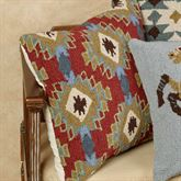 Corral Kilim Pattern Pillow Multi Warm 18 Square