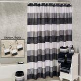 Ambrosi Shower Curtain Black 70 x 72