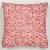 Garden View Piped Pillow White 18 Square