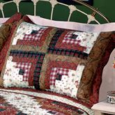 Ruby Log Cabin Quilted Sham Standard