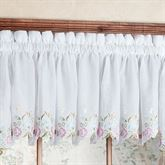 Isabella Embroidered Tailored Valance 60 x 14