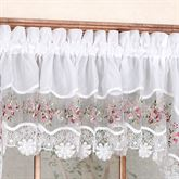 Vintage Embroidered Tailored Valance 58 x 14