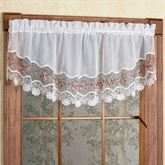 Vintage Embroidered Crescent Valance 58 x 18