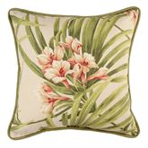 Katia Patterned Piped Pillow Light Cream 17 Square