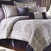 Nomad 4 pc Comforter Set Platinum Gray