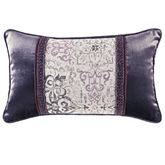 Nomad Piped Rectangle Pillow Platinum Gray