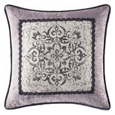 Nomad Piped Medallion Square Pillow Platinum Gray 18 Square