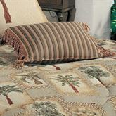 Palm Grove Fringed Rectangle Pillow Almond