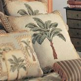 Palm Grove Piped European Pillow Almond