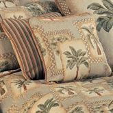 Palm Grove Piped Square Pillow Almond 18 Square