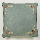 Calais Embroidered European Sham Only Teal