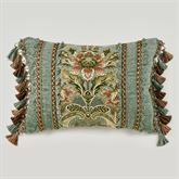 Calais Fringed Pillow Teal Rectangle