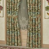 Calais Wide Tailored Curtain Pair Teal
