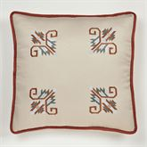 Bandera Embroidered Sham Multi Warm European