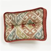 Bandera Tufted Pillow Multi Warm Rectangle