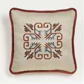 Bandera Embroidered Pillow Multi Warm 18 Square