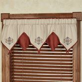 Bandera Layered Ascot Valance Multi Warm 60 x 18