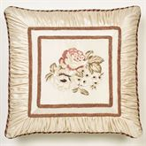 Floral Jubilee Embroidered Sham Light Cream European