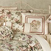 Floral Jubilee Corded Pillow Light Cream Neckroll