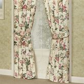Floral Jubilee Tailored Curtain Pair Light Cream 84 x 84