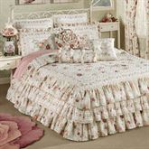 English Rose Ruffled Grande Bedspread Ivory