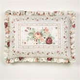 English Rose Quilted Sham Ivory Standard