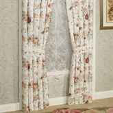 English Rose Tailored Curtain Pair Ivory 84 x 84