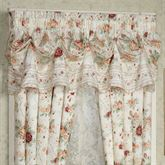 English Rose Tuck Valance Ivory 90 x 20