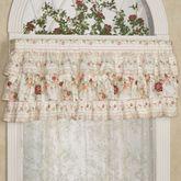 English Rose Ruffled Valance Ivory 60 x 19