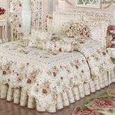 English Rose Quilt Set Ivory