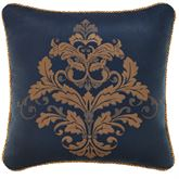 Monroe Midnight Corded Pillow 18 Square
