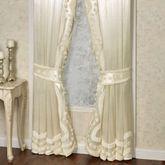 Lisette Tailored Curtain Pair Pearl 96 x 84