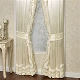 Lisette Tailored Curtain Pair Pearl 96 x 84