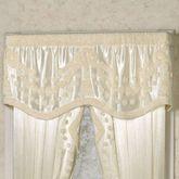 Lisette Scalloped Valance Pearl 66 x 18