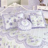 Cottage Garden Flanged Tailored Sham Lavender Standard