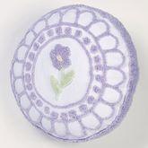 Cottage Garden Tufted Pillow Lavender Round