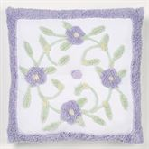 Cottage Garden Tufted Pillow Lavender 18 Square