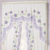 Cottage Garden Swag Valance Lavender 60 x 40