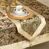 Holly Ribbon Table Runner Gold